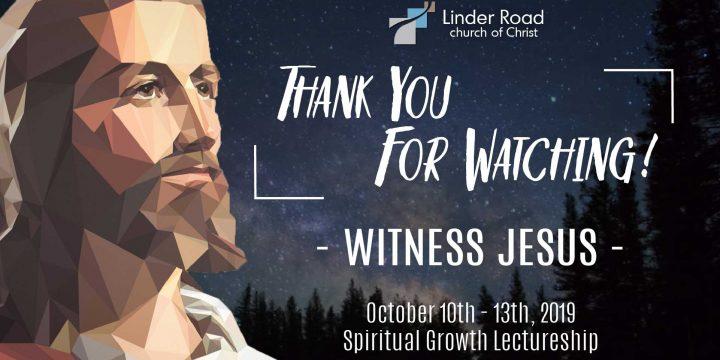 2019 Annual Spiritual Growth Lectureship